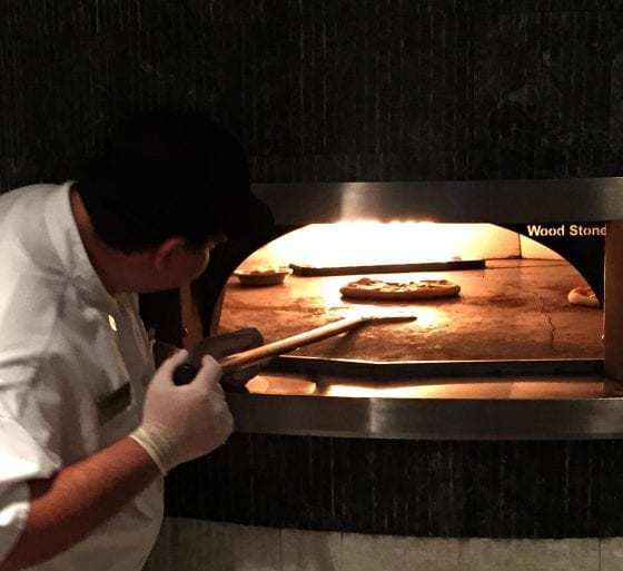 Open Flame Wood Pizza Oven used in 360 American Bistro and Bar at Melia Orlando Suites Hotel in Celebration