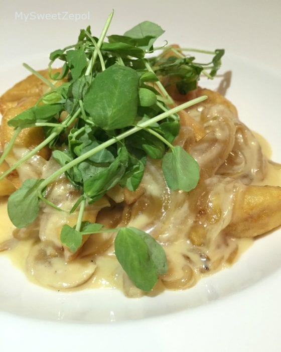 Idaho Potato Gnocchi served in 360 American Bistro and Bar in Central Florida