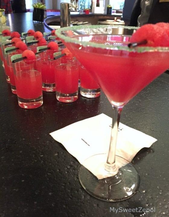 Watermelon Martini consists of Grey Goose le Citron, Watermelon Pucker and watermelon