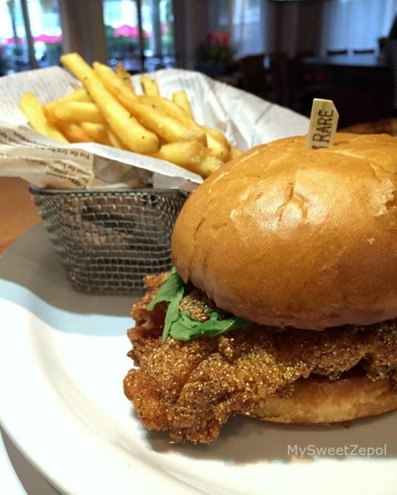 Southern Chicken Sandwich served in 360 American Bistro and Bar in Central Florida