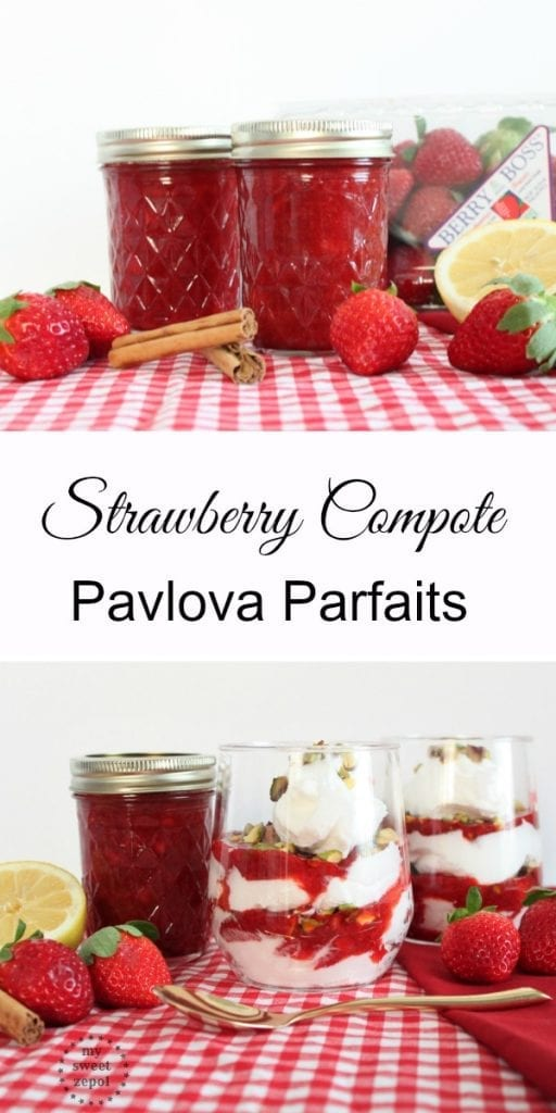 Strawberry Compote Pavlova Parfaits, plus steps and tips on how to successfully preserve those strawberries you love so much / @flastrawberries #SundaySupper #FLStrawberry / by My Sweet Zepol food-blog