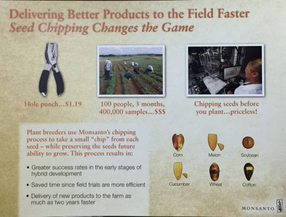 Delivering better products to the field faster seed chipping changes the game for growers. The Science Behind Food #FarmFoodTour