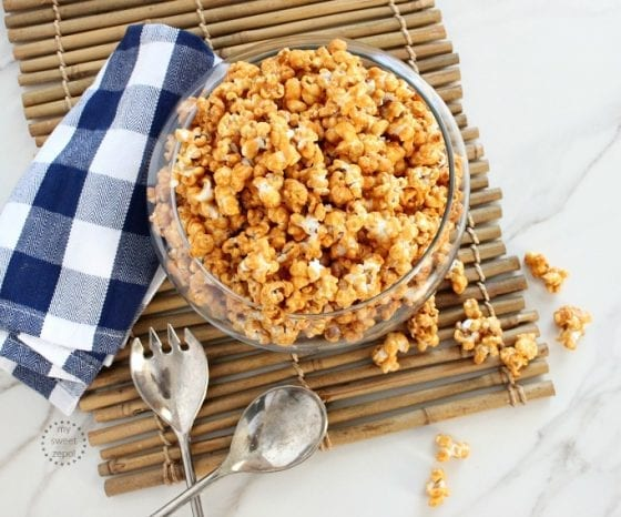 Sea salt caramel homemade popcorn is the best Sweet and Salty Caramel Popcorn you could ever make at home. recipe found in mysweetzepol.com