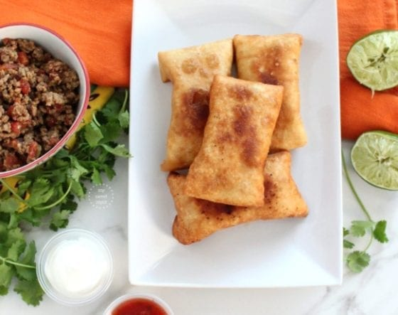The best taco chimichangas you have ever had, recipe is in mysweetzepol.com