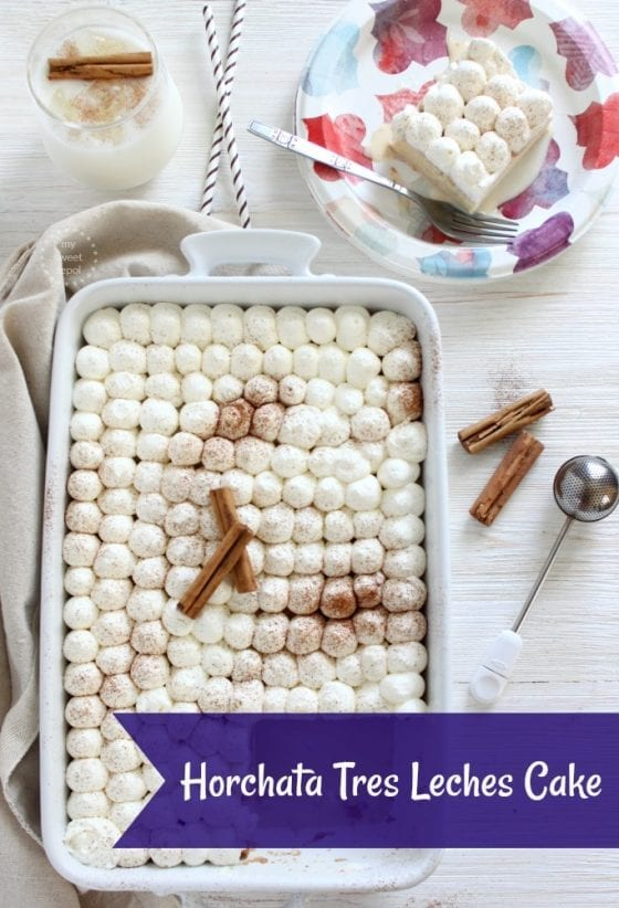 Looking for a great gathering dessert recipe? I got you covered with this Horchata Tres Leches Cake. Make ahead and serve in a Dixie plate making it a stress free dinner party time after time. More at mysweetzepol.com #SummerSoStrong #CollectiveBias ad