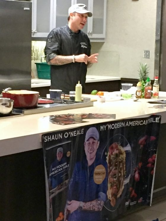 Master Chef Shaun O'Neale / Food demo for the Cocoa Beach Uncorked Festival media event / more at mysweetzepol.com