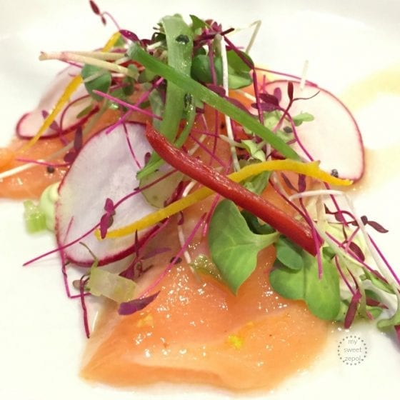 Spicy Salmond Crudo by Master Chef Shaun O'neale / more at mysweetzepol