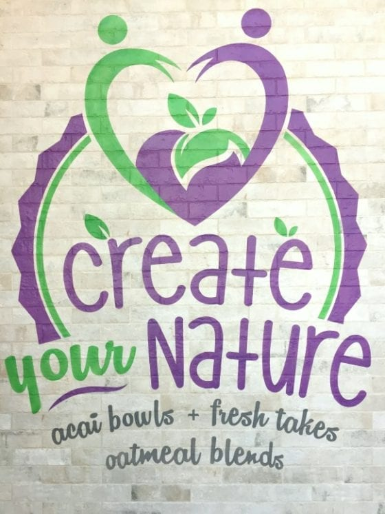 Create Your Nature is the place to go for the best smoothie bowls in Orlando #getyourbowlon #CFLB