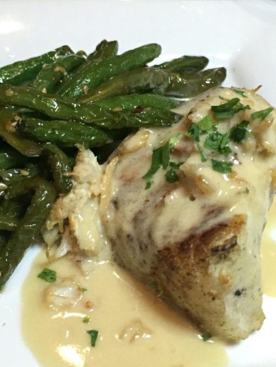 Chilean Sea Bass with Szechuan Green Beans from Moon Fish Talk of the Town #SupportLocalEatLocal find more delicious food at @mysweetzepol.com