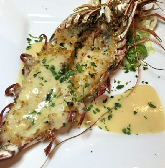 Giant Madagascar Shrimp with Key West Slaw from Johnnie's Hideaway / Talk of the Town #SupportLocalEatLocal find more delicious food at @mysweetzepol.com