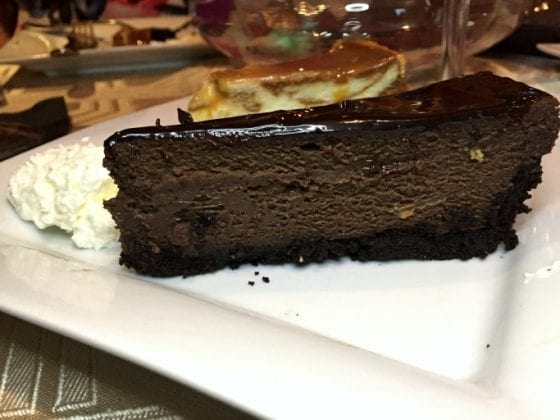 Grand Marnier Double Chocolate Cake and Salted Caramel Cheesecake / Talk of the Town #SupportLocalEatLocal find more delicious food at @mysweetzepol.com