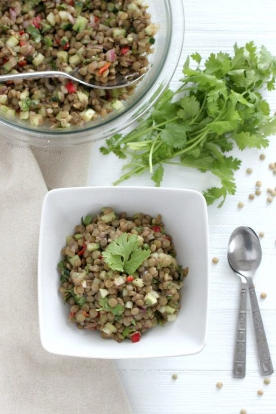 Refreshing Lentil Salad to enjoy year round.