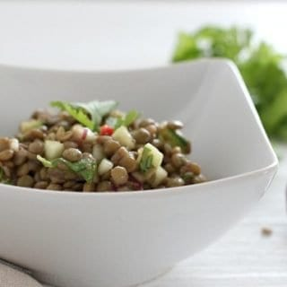Easy and Refreshing Healthy Lentil Salad