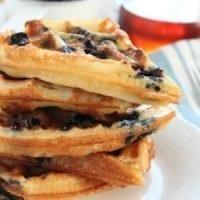 Blueberry Homemade Belgian Waffles