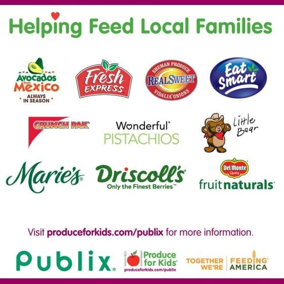 Helping feed local families with Produce for Kids, Feeding America and Publix