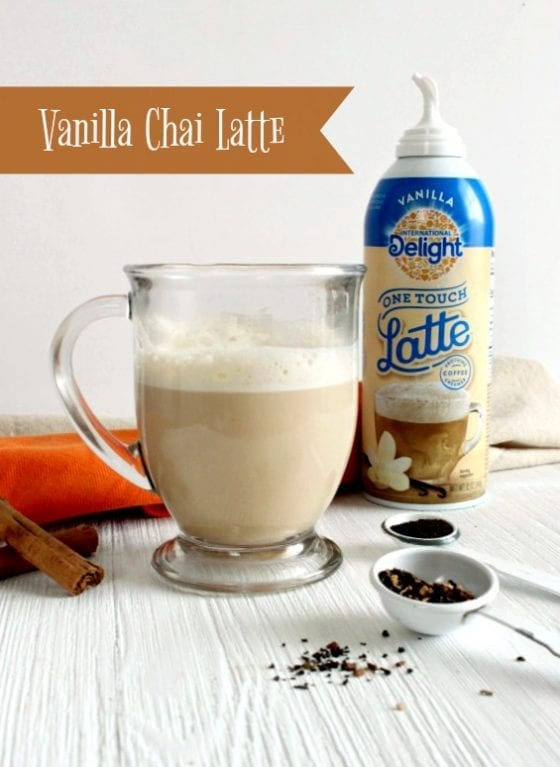 Vanilla Chai Latte' is the perfect fall drink. Warm, cozy, fragrant and so easy to make. Get the recipe at mysweetzepol.com #LatteMadeEasy #CollectiveBias #ad