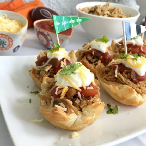 Get this recipe and others for tailgating season! Here's a winner! Veggie Pulled Pork Phylo Cups, super easy to make, good for you and a favorite for the entire family. #TailgateWithATwist #SeasonalSolutions #CollectiveBias ad (Winner Veggie Pulled Pork Phylo Cups for Tailgating Season)