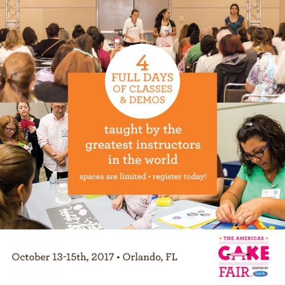 Cake decorating classes at The Americas Cake Fair in Orlando FL this October 13-15th #CakeFair2017 ad / It's sweet all over and happens once a year, The Americas Cake Fair