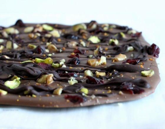 The best treat for you to enjoy and to gift during the holidays! Sweet and Salty Double Chocolate Bark, get the recipe at www.mysweetzepol.com