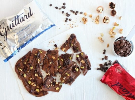 Guittard chocolate is gluten and nut free and my go to chocolate for when making treats for family and friends. You can't go wrong with amazing chocolate! Here is my Sweet and Salty Double Chocolate Bark, get the reicpe at www.mysweetzepol.com