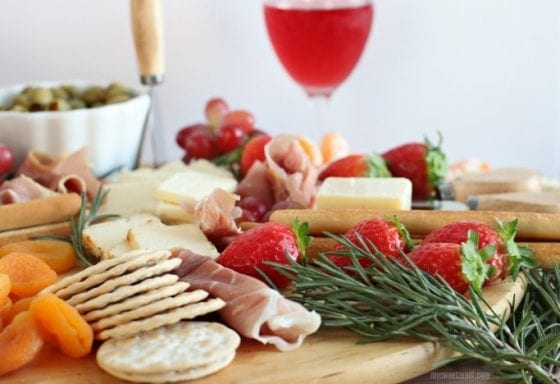 Entertain like a boss with this ULTIMATE party size cheese platter, grab the recipe at mysweetzepol.com #entertain #cheeseplatter