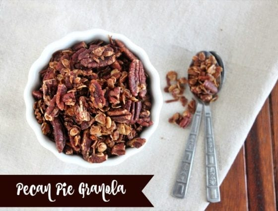 Do you love pie? Well, you'll love this Pecan Pie Granola mix. It's a great healthy take on the beloved pecan pie eveyone enjoys so much during the holidays, just without the guilt...if any! Grab the recipe at mysweetzepol.com