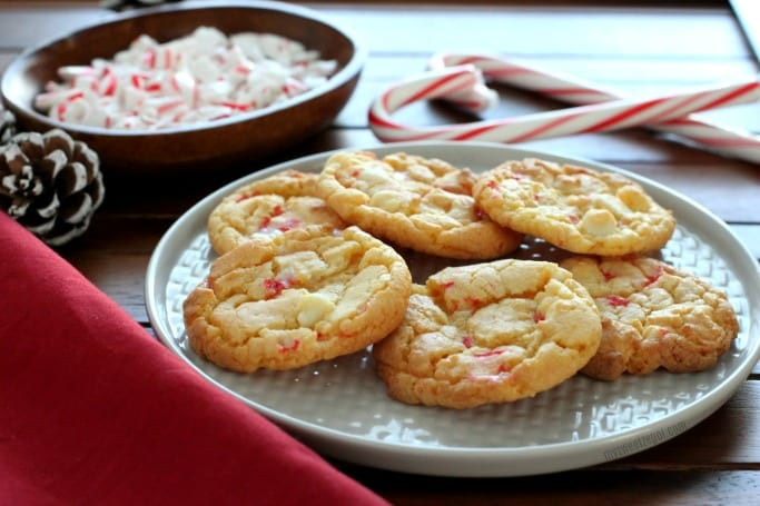 White Chocolate Candy Cane Cookies