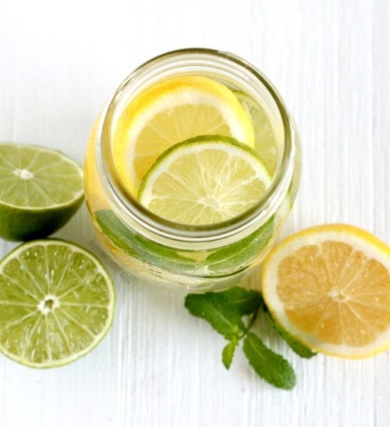 Lemon and Lime is just about the best water detox combo ever. Chech out this 5 Healthy Detox Water Recipes with Fresh Fruits. Grab them at mysweetzepol.com #detoxing #healthyliving