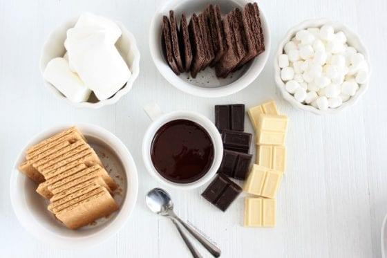 Indoor S'mores Bar for those colder days when you want to entertain but don't want to go outside for it! Go grab your must have's at mysweetzepol.com #smores