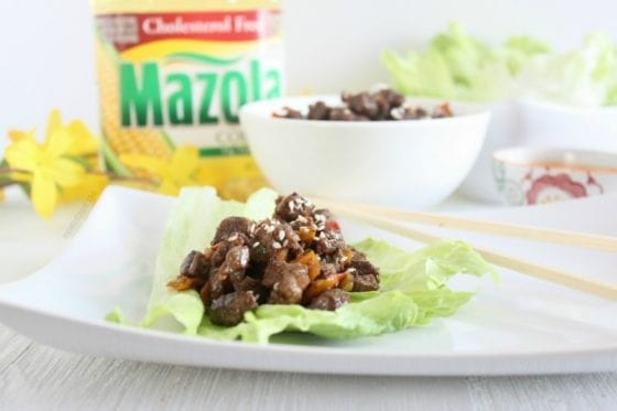 This Asian Beef Lettuce Wraps are easy to make, delicious and perfect for any weekday! Grab the recipe at mysweetzepol.com and make it today. AD #CollectiveBias