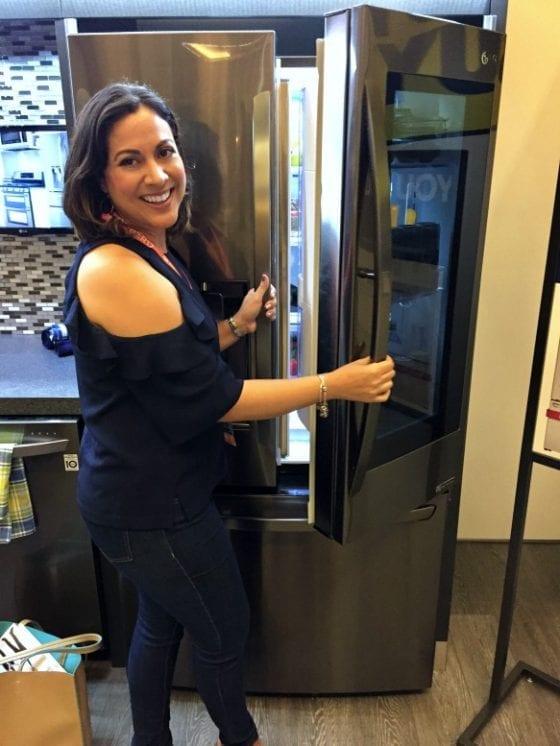 You'll love this smart fridge from LG InstaView Door-in-Door found at Best Buy #ad