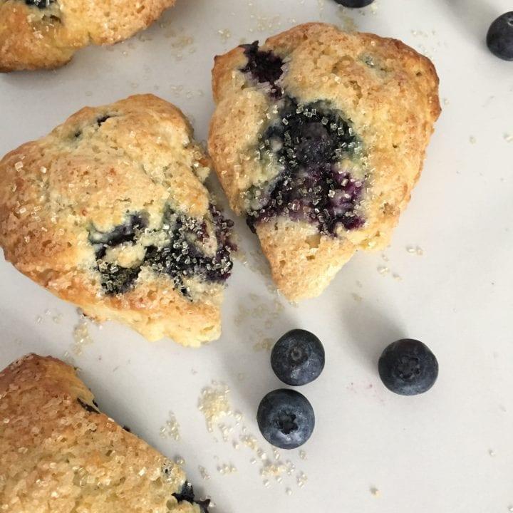 Mini Buttermilk Blueberry Scones