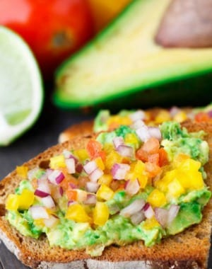 Salsa Avocado Toast, the perfect summer treat or brunch