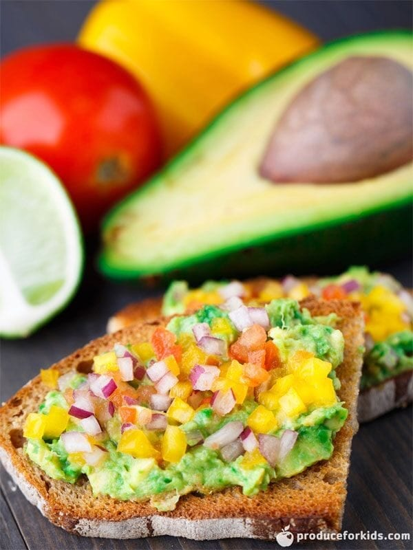 Salsa Avocado Toast, a delicious tropical twist on a traditional avocado toast perfect for the summer