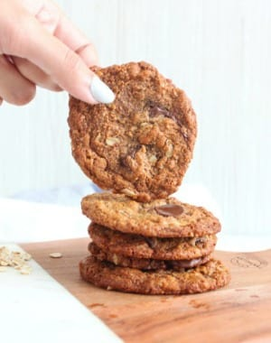 Almond Butter Oatmeal Chocolate Chips Cookies