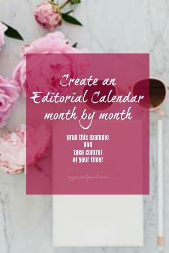 Create an editorial calendar month by month and take control of your business. No more feeling frazzled on a daily basis, push publish with confidence! Read more about editorial calendars at mysweetzepol.com #biztalk #blogging