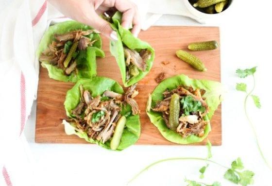 Mojo Pork Lettuce Wraps