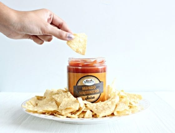 Mango Habanero Salsa with White Corn Tortilla Chips