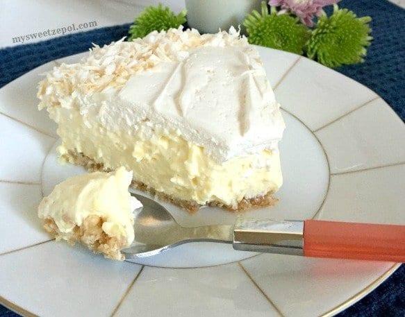 Almost no Bake Coconut Cream Pie