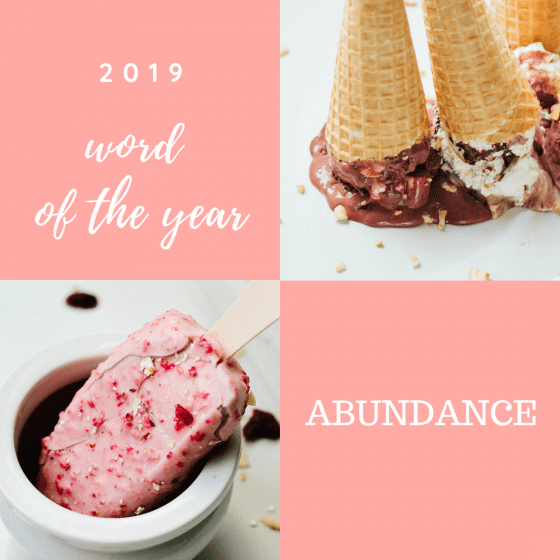 word of the year is ABUNDANCE #wordoftheyear Read more at mysweetzeopol.com
