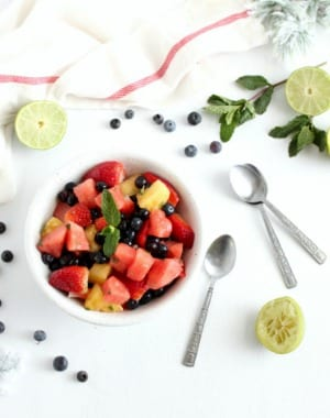 Mojito Fruit Salad for a refreshing treat by My Sweet Zepol