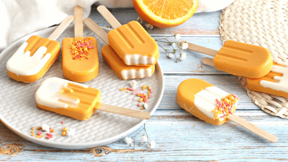 Creamsicle Cake Pop by My Sweet Zepol