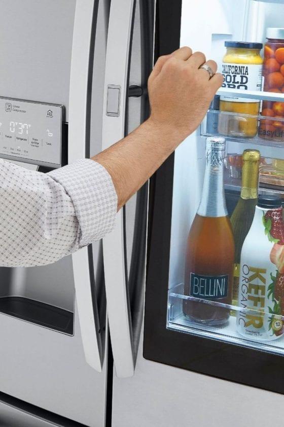 Entertaining in style with LG InstaView™ Door-in-Door® Refrigerator with Craft Ice™