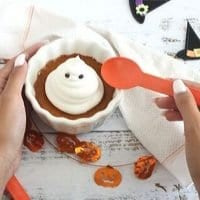 Ghostly Pumpkin Custards