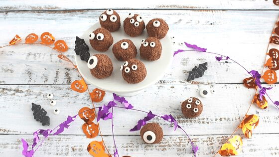 Spiced Chocolate Monster Truffles are melt in your mouth good #HalloweenTreatsWeek