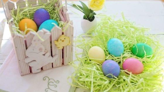 Easter eggs craft, Easter eggs basket