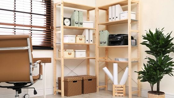 cube storage bin in canvas, white wire, black wire, white plastic and card-box