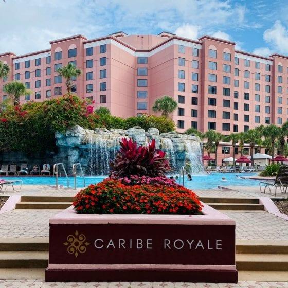 Caribe Royale Orlando pool entrance view