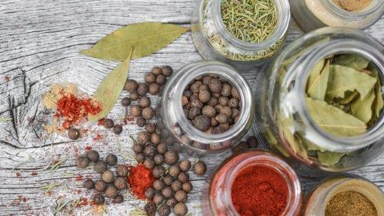 dry herbs, dried herbs in glass jars, seasoning in glass jars, cooking tips,
