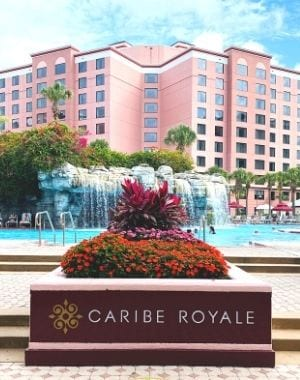Caribe Royale front view pool entrance